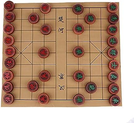 FLAMEER Juego de Mesa de Estrategia Xiang Qi Ajedrez Chino Juguete ...