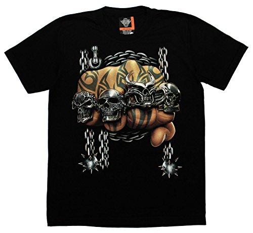 Tattoo Faust T-Shirt Totenkopf Größe M