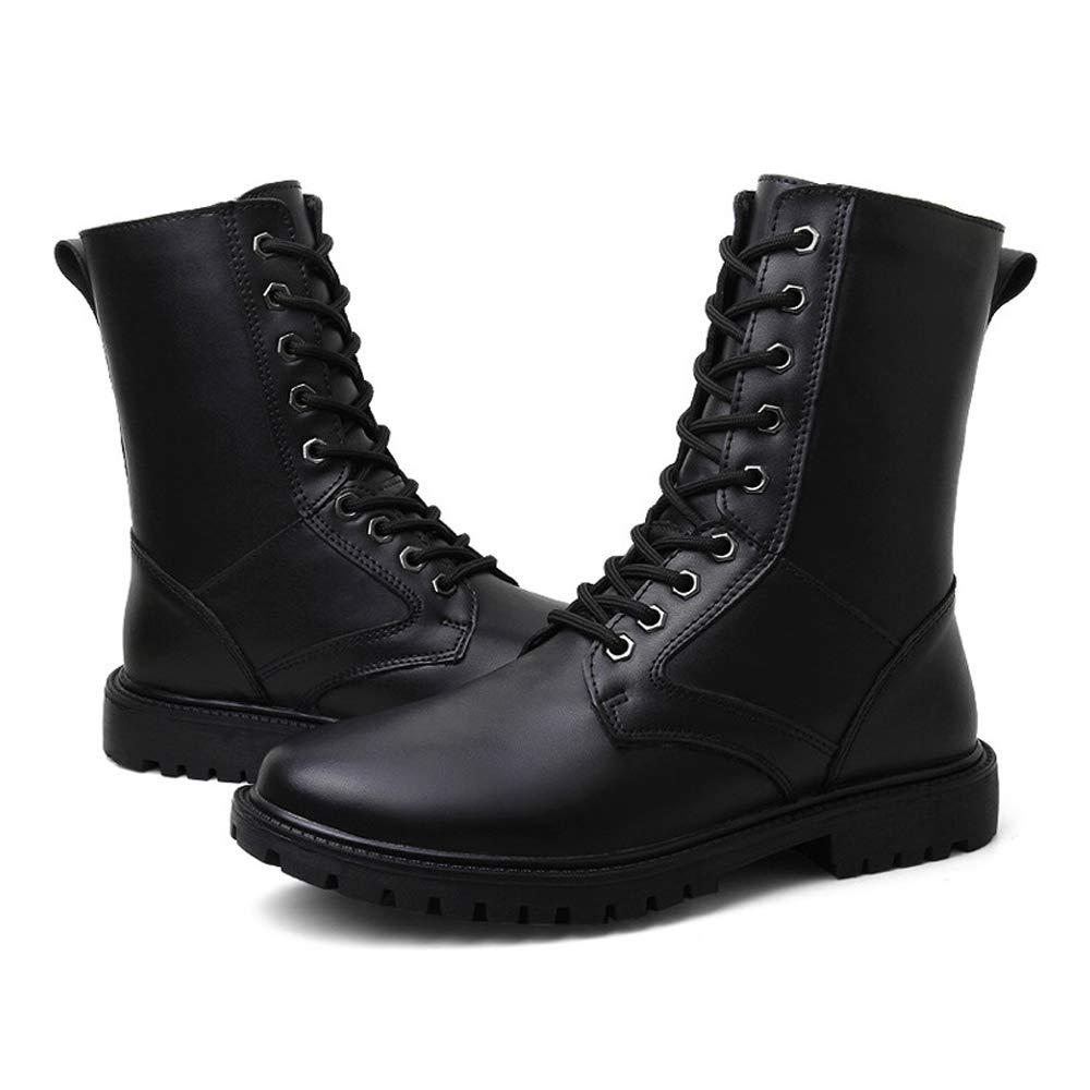 BND-schuhe , Herrenmode Mitte der Wade Stiefel aus echtem echtem echtem Leder High Top Military Schuhe (warmes Fleece gefüttert optional) dauerhaft; Standverschleiß (Farbe   Warm schwarz, Größe   39 EU) 68ce29