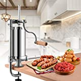 Goplus 2.5 Lb/1.5L Vertical Sausage Stuffer Maker Stainless Steel Meat Filler, with 4 Sizes of Food-Grade Sausage Tubes for Commercial Home Use