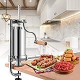 Goplus Stainless Steel Vertical Sausage Stuffer Maker Meat Filler Commercial (1.5L)