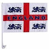 England 4 Lions Car Flag