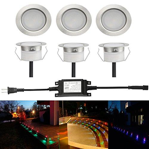 Shank Kitchen - Low Voltage 6pcs Multi-color RGB LED Deck Lights Kit 1-3/4
