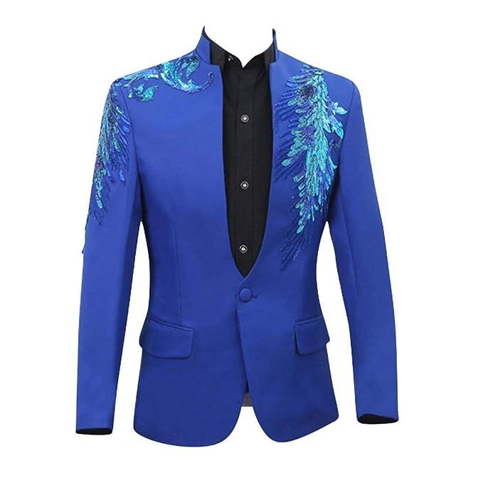 Battercake Traje De Hombre Chaquetas Slim Fit Cut Glaring Flash Traje Chaqueta Diseño Tuxedo Cómodo Wedding Blazer Hombres Partido: Amazon.es: Ropa y ...