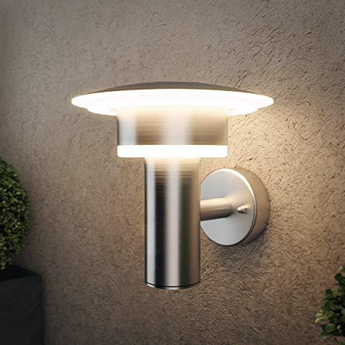 NBHANYUAN Lighting® Buitenverlichting Buiten LED Muur Roestvrij staal Wandkandelaar Buiten Weerbestendig Warm wit…