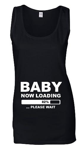 Direct 23 Ltd – Canotta da donna, motivo: BABY NOW LOADING