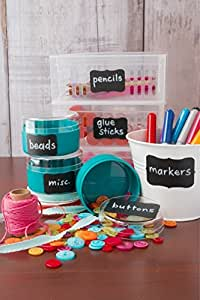 Chalkboard Labels - Chalk Labels by Cestari Kitchen - Set of 52 Premium Fancy Blackboard Stickers for Stylish Organization, Wedding Decorations, and Craft Projects