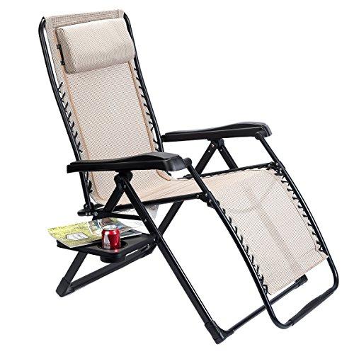 Timber Ridge Oversized Xl Zero Gravity Chair Beige