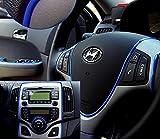 Automobile Car Motor Interior Exterior DIY Decoration Moulding Trim Strip Line Sticker 5meter (Blue)