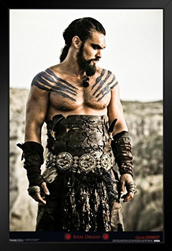 Pyramid America Game of Thrones Khal Drogo HBO Television Framed Poster 14x20 inch -