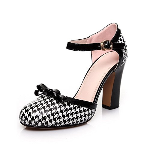 Sandaalit Korkokengät Toe Naisten Väri Musta Valikoituja Allhqfashion Suljettu Solki Kiiltonahkaa CAwxFxSqP
