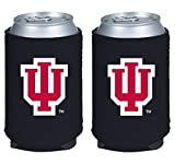 NCAA College 2014 Team Logo Color Can Kaddy Holder Cooler 2-Pack (Indiana Hoosiers)