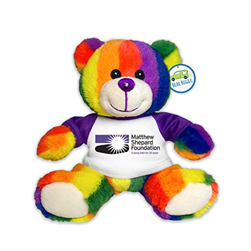 Totally Pride JR Teddy Bear, Matthew Shepard Foundation 20th Anniversary by (Bear Pride Design)