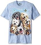 The Mountain Dog Selfie Adult T-Shirt, Blue, Medium