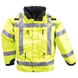 5.11 Tactical #48033 3-in-1 High Visibility Reflective Parka (Reflective Yellow, 4X-Large)