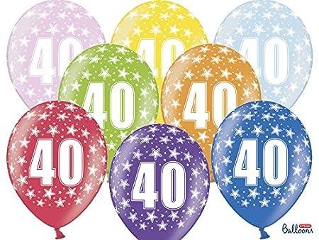schnoori Ghundoo 40 Cumpleaños - 24 Globos Globo - 30 cm ...