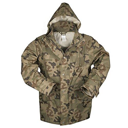 Mil-Tec Polish Wet Weather Jacket Trilaminat Camouflage - 10622035 (Large) by Miltec (Image #1)