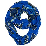 NHL St. Louis Blues Sheer Infinity Scarf, One Size, Blue