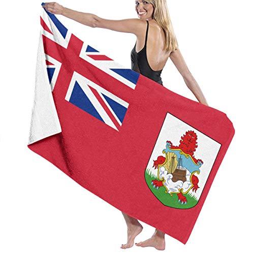 商品受け入れ思春期ビーチバスタオル バスタオル バミューダ国旗 ビーチ用 海水浴 旅行用タオル 多用途 おしゃれ White