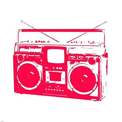 Red Boom Box by Veruca Salt Art Print, 30 x 30 inches ()
