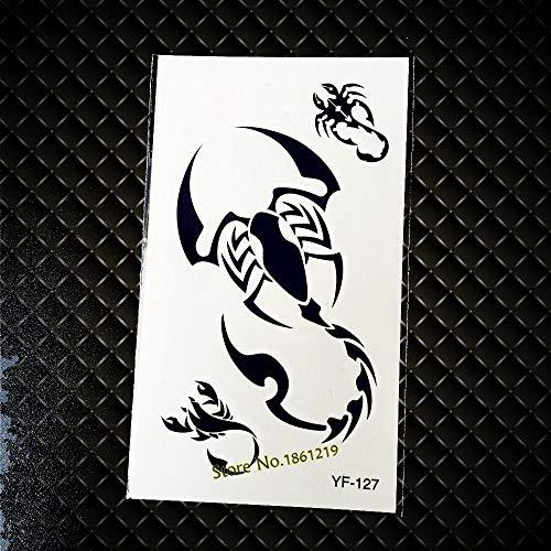 GVDTYKJF Tattoos Sticker Cool Black Scorpion Design Tattoos Sticker Wobody Art Arm Sleeve Waterproof Tattoos Makeup Gyf127