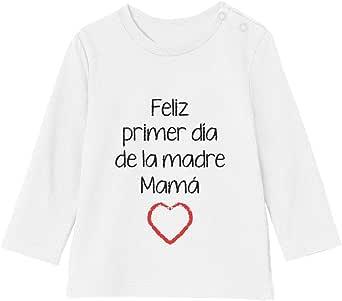Camiseta bebé Unisex Manga Larga - Feliz Primer Día de la Madre - para Mamá en su Día