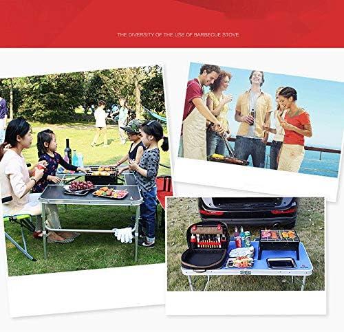 Miyabitors Acier Inoxydable Dépoli Four, Grill Barbecue Fête De Famille Pliable Portable, Barbecue Amovible Four Avec Poignée