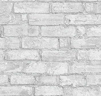 Papier Peint Dessin à Brique Gris Perle Effet 3d Natural Look3 95013
