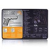 "Glock Gun Cleaning Mat (17"" x 11"") 3mm Neoprene - Waterproof Glock Parts Diagram / Instructions Gun Cleaning Kit / Glock Bench Mat / Glock 19 43 26 22 23 42 Accessories"