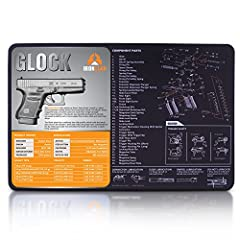 CLEAN YOUR Glock Gun Cleaning Mat WITH ZERO MESS AND ZERO HASSLE Cut the Mess Looking for the perfect solution to cleaning your precious Glock pistol all without ruining your surfaces? Well that's what the IronClad gun cleaning mat is all abo...