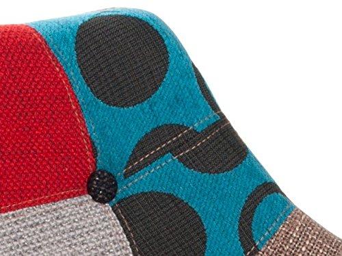 zuiver 1100142 eleven lot de 2 chaises patchwork 44 x 58 x 79 cm amazonfr cuisine maison - Chaise Eleven Patchwork Colors
