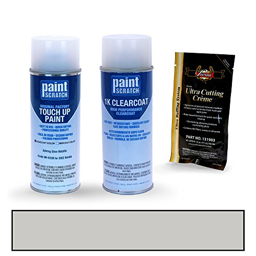 [2002 Honda S2000 Sebring Silver Metallic NH-552M Touch Up Paint Spray Can Kit by PaintScratch - Original Factory OEM Automotive Paint - Color Match Guaranteed] (Factory Spray Paint)
