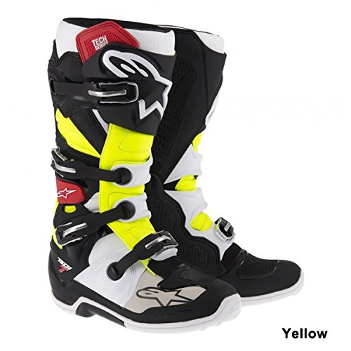 Alpinestars Tech 7 Boots , Primary Color: Black, Size: 13, Distinct Name: Black/Red/Yellow, Gender: Mens/Unisex 201201413613 by Alpinestars Multicolor