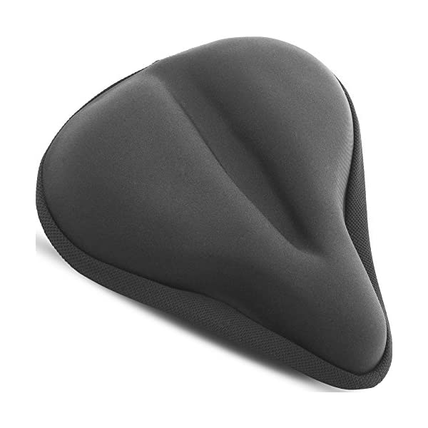 Bikeroo Large Bike Seat Cushion – (11 inches x 10 inches) Wide Gel Soft Pad...