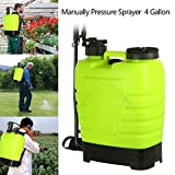 Benlet 16L 4 Gallon Manual Pressure Knapsack Sprayer, Portable Backpack Weed Chemical Sprayer for Garden Yard Farm