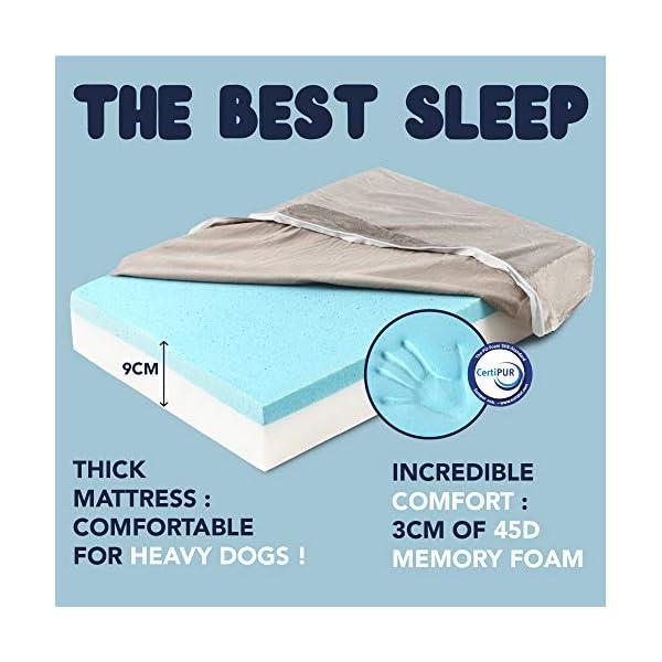 51MesWKhFqL ZENAPOKI Dog Bed - M - Orthopädisches Kissen für Hunde, gut die Gelenke - Hundebett flauschig aus Memory Schaum, Dog Bed…
