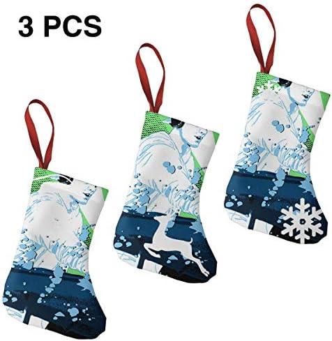 クリスマスの日の靴下 (ソックス3個)クリスマスデコレーションソックス Avicii Request クリスマス、ハロウィン 家庭用、ショッピングモール用、お祝いの雰囲気を加える 人気を高める、販売、プロモーション、年次式