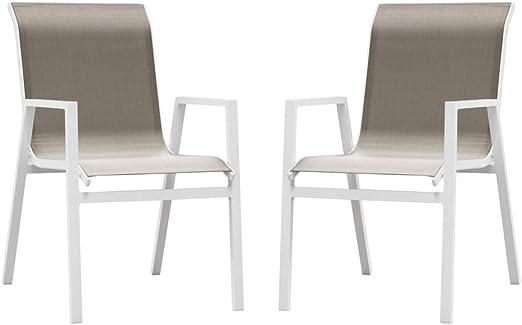 SunRise Chaise de Salon de Jardin en Aluminium Ibiza Lot de ...