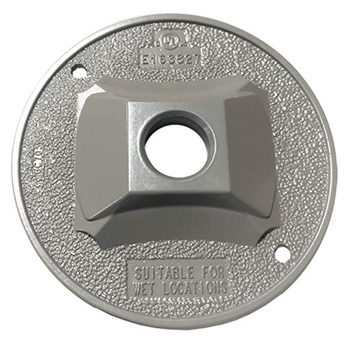 Lamp Holder Gasket - Sigma Electric 14381 1/2-inch 1 Hole Round Lamp Holder Cover, Grey