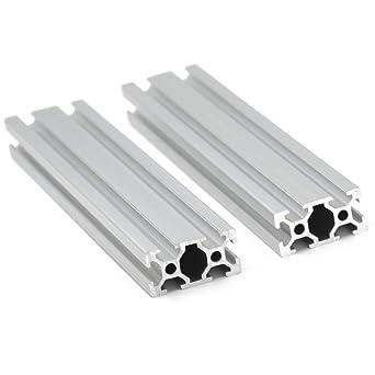 Iverntech 4pcs 250mm V-Slot 2020 European Standard Anodized Linear Rail Aluminum Profile Extrusion for DIY 3D Printer