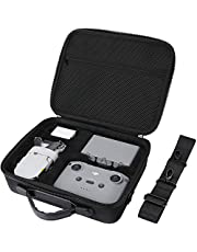 ProCase Hard Carrying Case for DJI Mini 2 / DJI Mini 2 Fly More Combo and Accessories, EVA Hard Shell Shockproof Travel Case with Shoulder Strap –Black