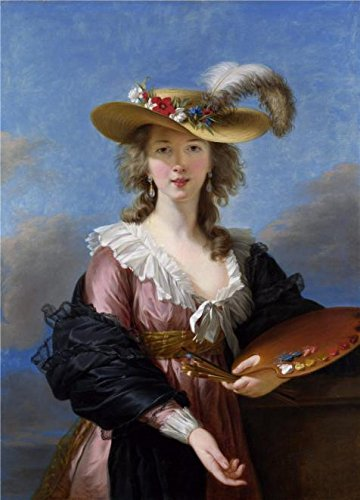 'Elisabeth Louise Vigee Le Brun-Self Portrait In A Straw Hat,after 1782' Oil Painting, 30x42 Inch / 76x106 Cm ,printed On High Quality Polyster Canvas ,this Cheap But High Quality Art ()