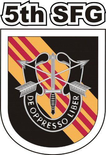 US Army 5th Special Forces Group Vietnam Flash Vinyl Decal Sticker 3.8