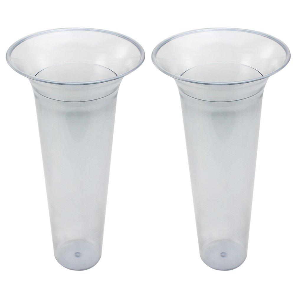 com-four/® 2 Inserts de Vase de Sol 02 pi/èces - Insert de Vase Longueur 32cm Insert en Plastique pour vases de Sol