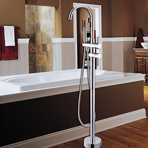 LightInTheBox Bathtub Faucet / Shower Faucet - Contemporary - Floor Standing / Handshower Included - Brass (Chrome) Brass Contemporary Handshower
