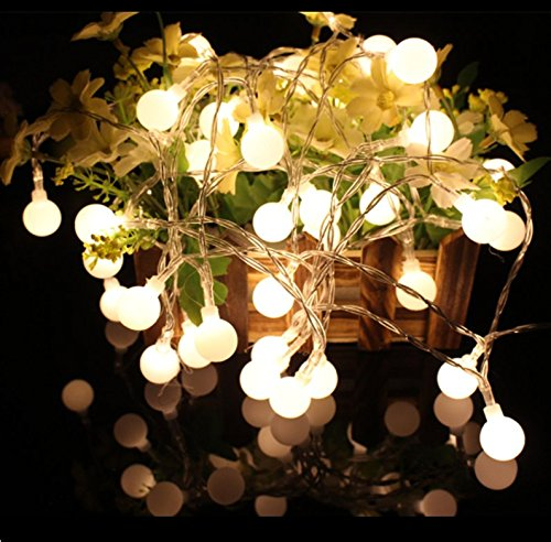S&G LED Globe String Lights Battery Operated, 14.8fts/4.5m 40 LEDs RGB Ball Globe Fairy Starry Lights with 8 Lighting Modes String Light for Home Party Birthday Garden Festival Wedding Warm Light