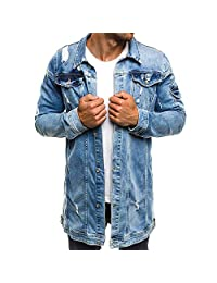 6ca90a6d763 Realdo Mens Ripped Denim Jacket Clearance Sale,Casual Sport Outwear Jeans  Coat