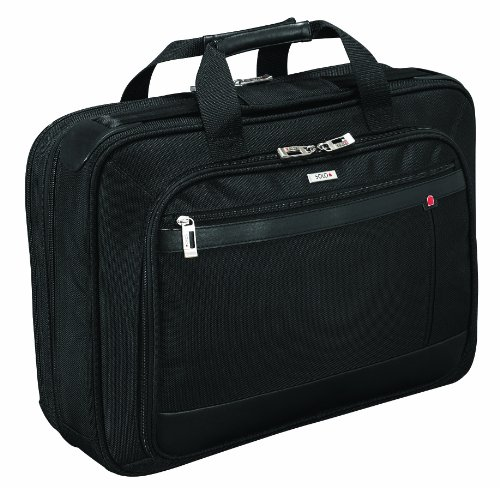 - Solo Classic Collection Laptop Portfolio with Smart Strap, Holds Notebook Computer up to 15.4 Inches, Black, PT434-4