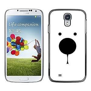 TopCaseStore / la caja del caucho duro de la cubierta de protección de la piel - Polar Bear Minimalist White Black Cute - Samsung Galaxy S4 I9500