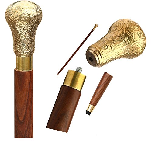 Best Deal – AB Handicrafts 37″ Royal Style Walking Stick – Classic Style Wooden Decorative Canes and Walking Sticks for Men and Women
